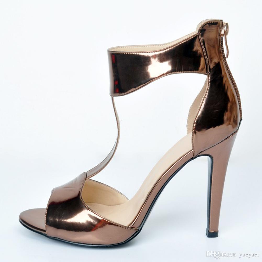 Zandina 여자의 손으로 만들어진 스틸레토 뒤꿈치 티 스트랩 D' Orsay 특허 코트 신발 웨딩 파티 드레스 커피 XD214에 대한