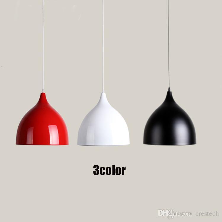 Lampes de restaurant en aluminium éclairage tulipe led lustre un sac nordique classique combinaison repas lustres E27 Trois lustre simple-tête