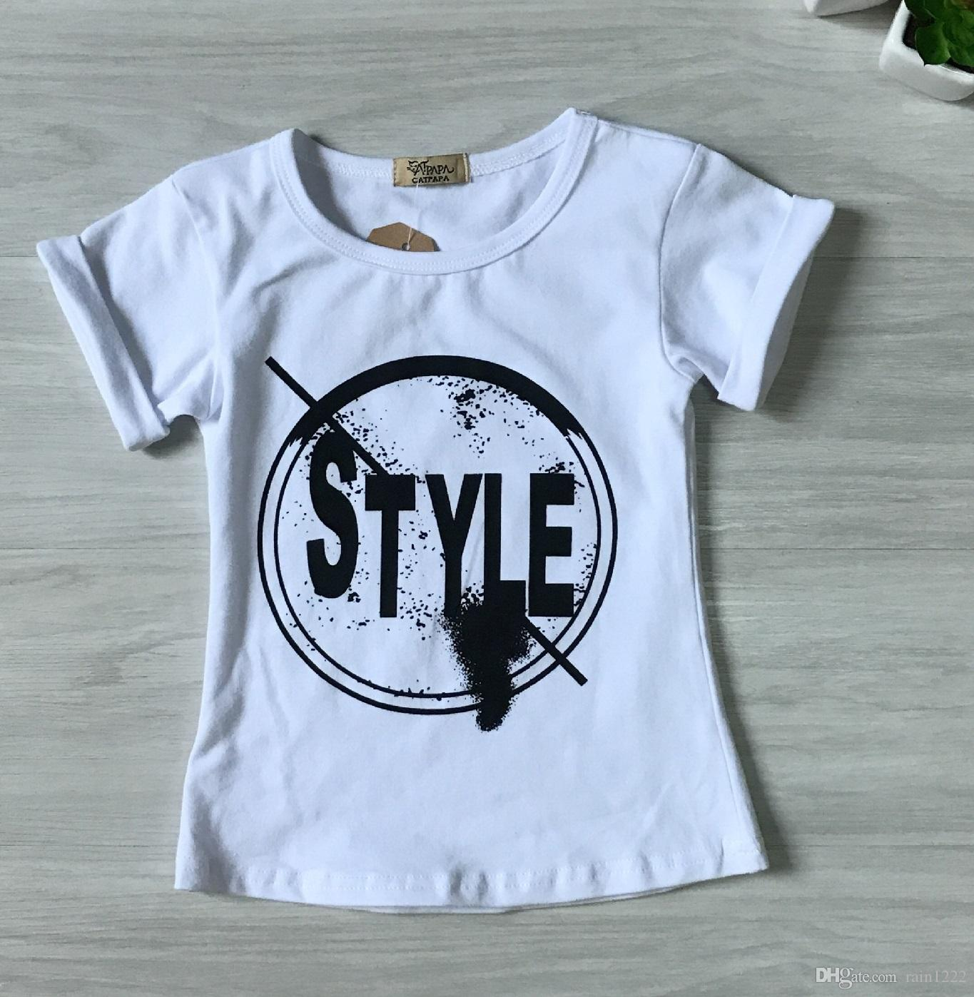 Girls Cotton T-shirts Legging Pants Suits Outfits For 2-7T Children Kids Shorts Sleeve Letter Shirts Tees Ripped Pants Trousers Clothing Set