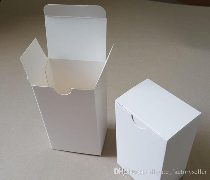 DHL 8*8*10cm DIY White Cardboard Paper Box Gift Packaging Box for Jewelry Ornaments Perfume Cosmetic Bottle Weddy Candy Tea