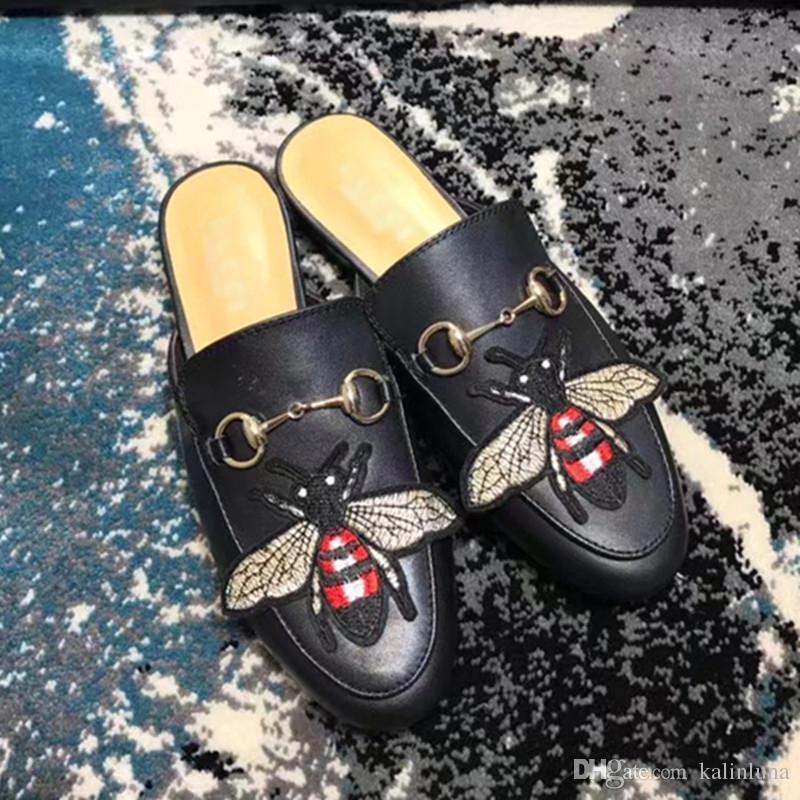 Compre Marca 2018 Zapatillas De Lujo De Cuero Genuino Marca Compre De Moda 48713e