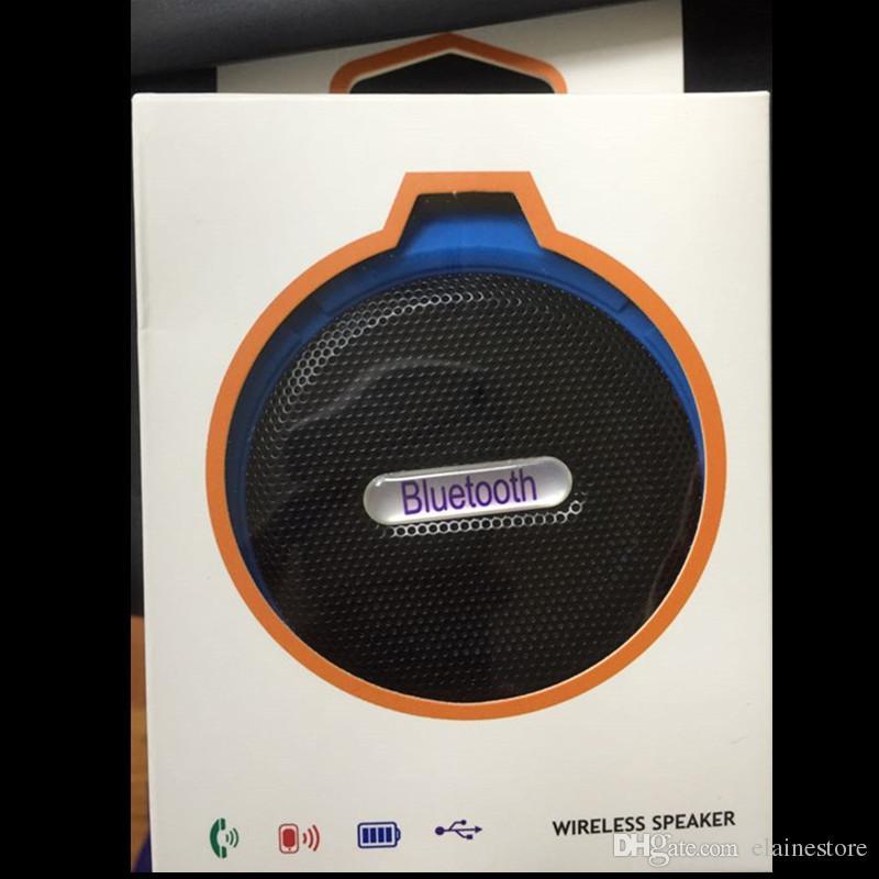 C6 Lautsprecher Bluetooth Lautsprecher Mini Trinkwasser Drahtlose Audio Player Wasserdichte Lautsprecher Haken Und Saugnapf Stereo Musik Player Mit Kleinkasten
