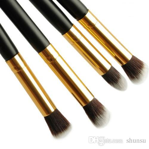 4Pc / Set Women Ladies Girls Pro Ombretto Ombretto Fondotinta Blending Face Blushes Brushes Set Makeup Cosmetic Tool
