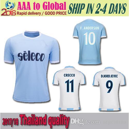 Top Thai Quality 17 18 Lazio Home Soccer Jersey 5 LUKAKU DE VRIJ ... c17371b50
