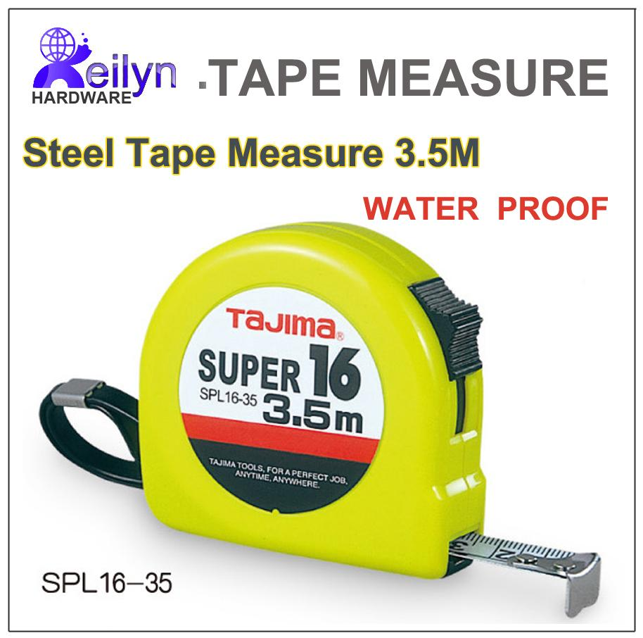 wholesale tajima 35m water proof steel measuring tape metric units tape width 16mm pocket ruler from jiguan dhgatecom