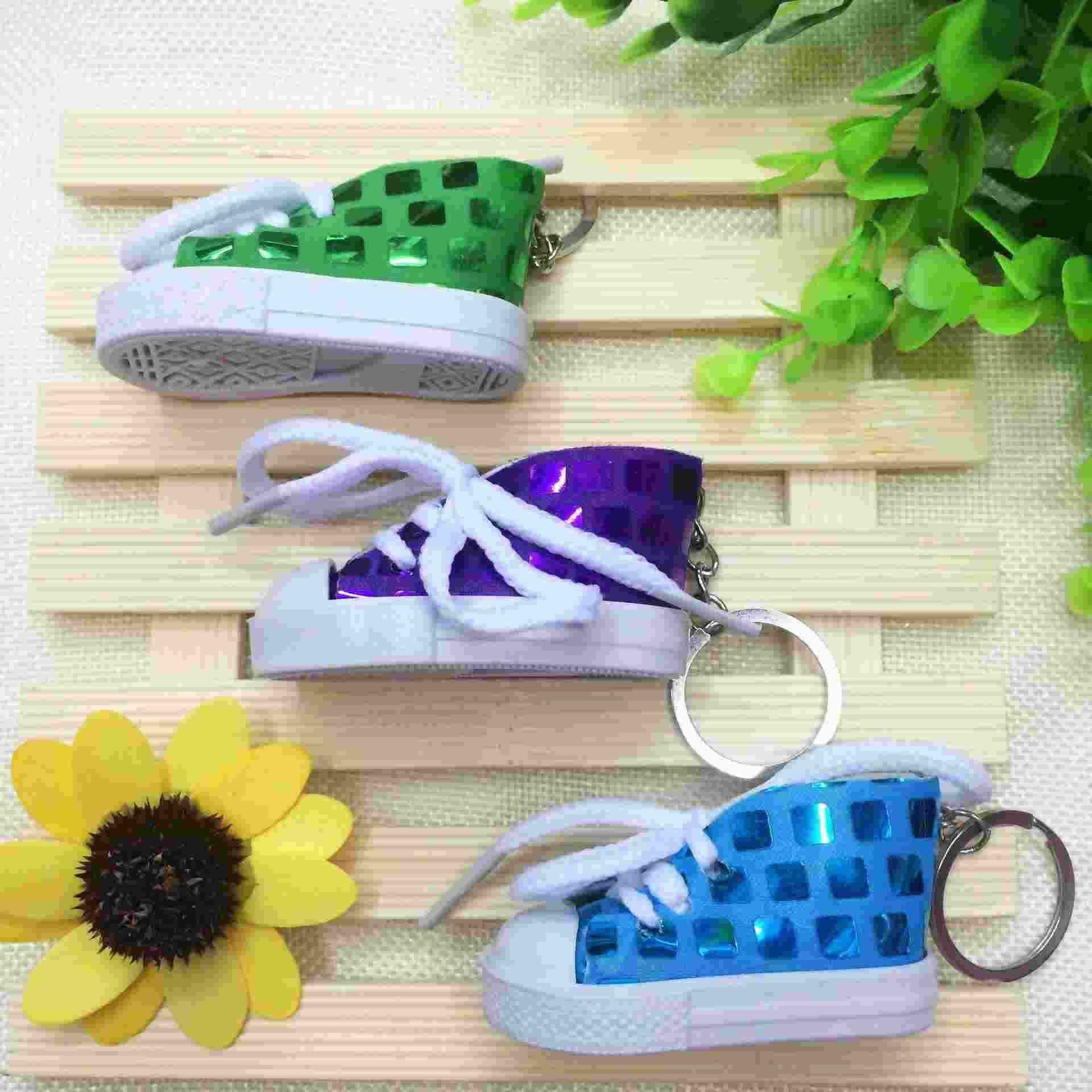 Creative gift Sequin high shoes sports shoes simulation canvas shoes key buckle strap nursery school activities and gifts