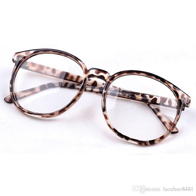 12101d90b6a 2019 Women Vintage Glasses Frame Plain Mirror Harajuku Round Optical ...