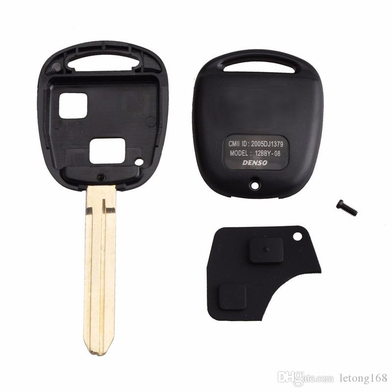 Guaranteed 100% 2Buttons Car Remote Key Shell Case Replacement For Toyota Corolla RAV4 Prado Yaris Camry With Button Pad