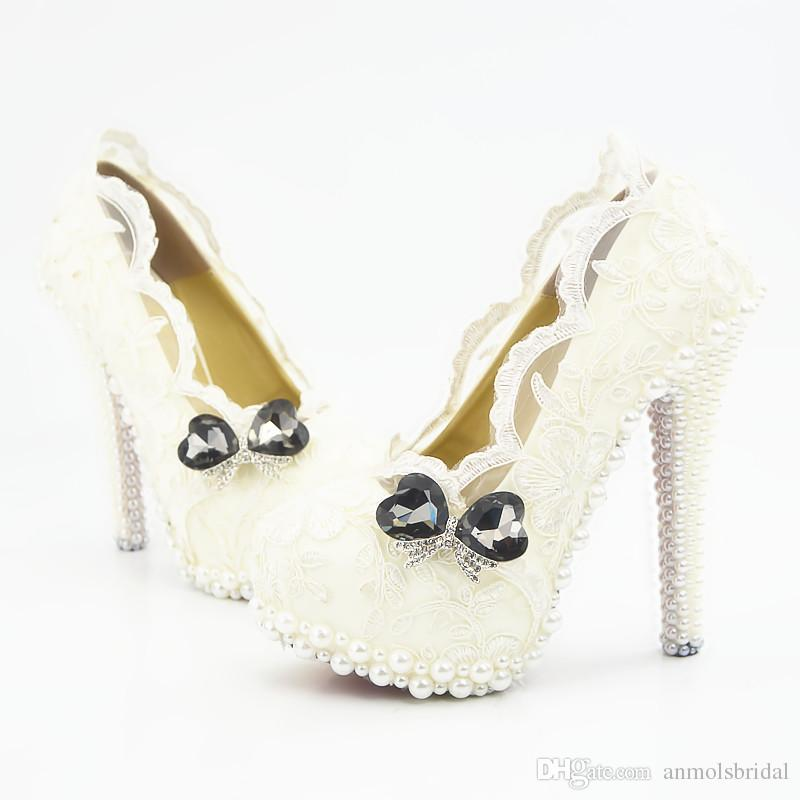 Wholesale Lace Pearls Sexy Prom Evening Shoes Cinderella Shoes Hand-made Bridal/Bridesmaid Shoes Nigh club Party High Heels with Flower 259