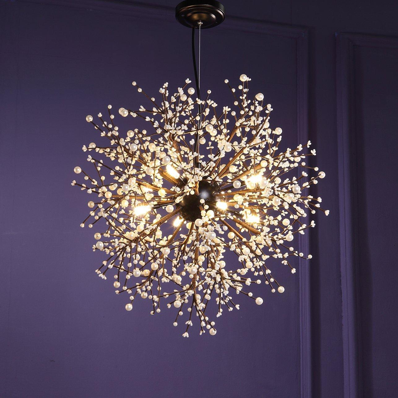 Modern Chandeliers Firework Led Vintage Wrought Iron Chandelier ...