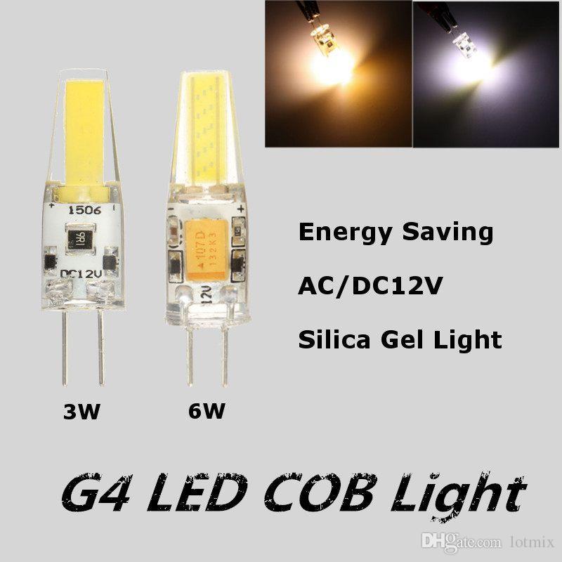 New Arrival G4 3W 6W Light LED COB Dimmable Silica Gel Light Lamp Bulb Energy Saving AC/DC12V Pure Warm White 360 Beam Angle