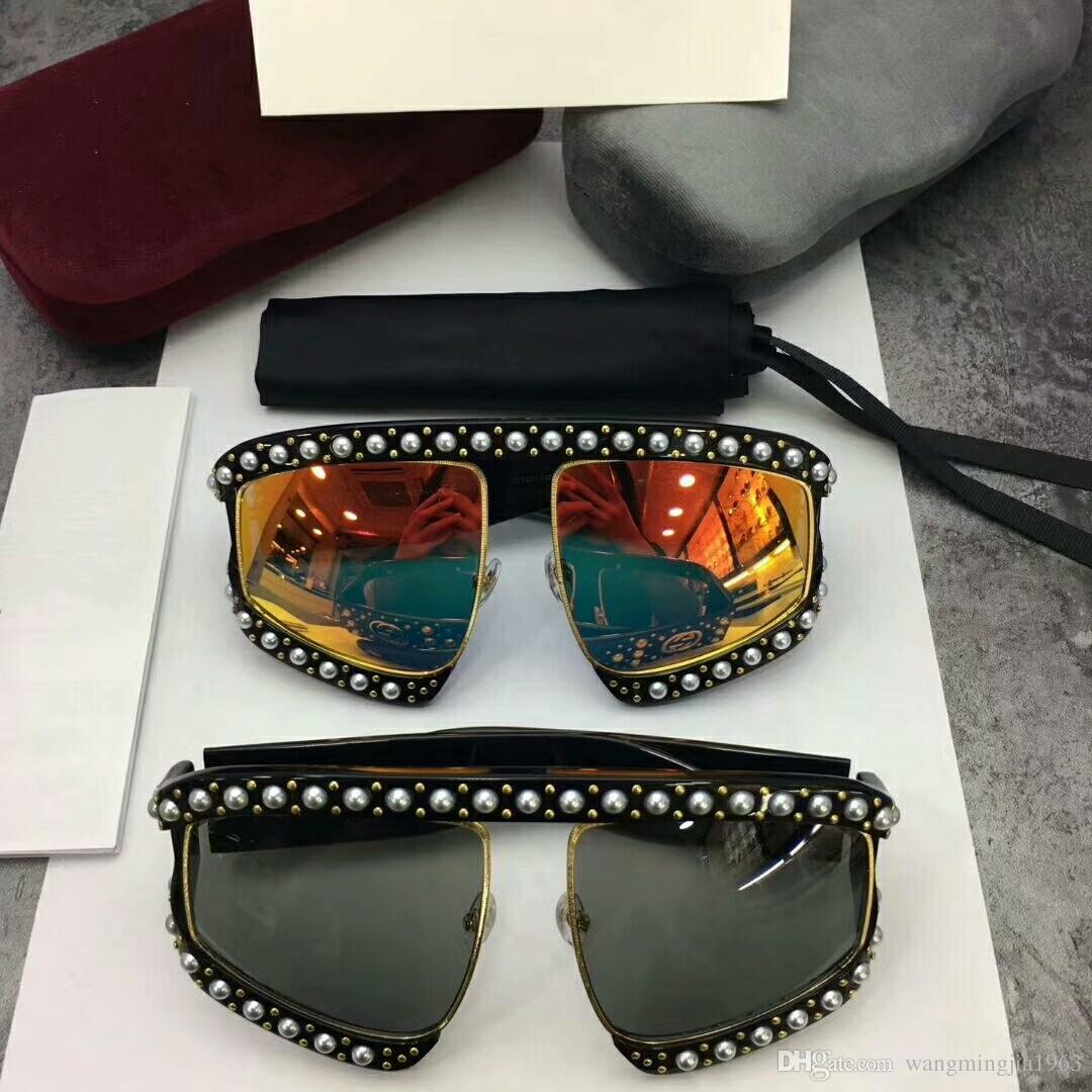 9ccfef13f09 New Designer Sunglasses 0234 Sunglasses For Women Men Sun Glasses Women  Brand Designer Coating UV Protection Pearl Rivets Fashion Sunglasses Best  Sunglasses ...