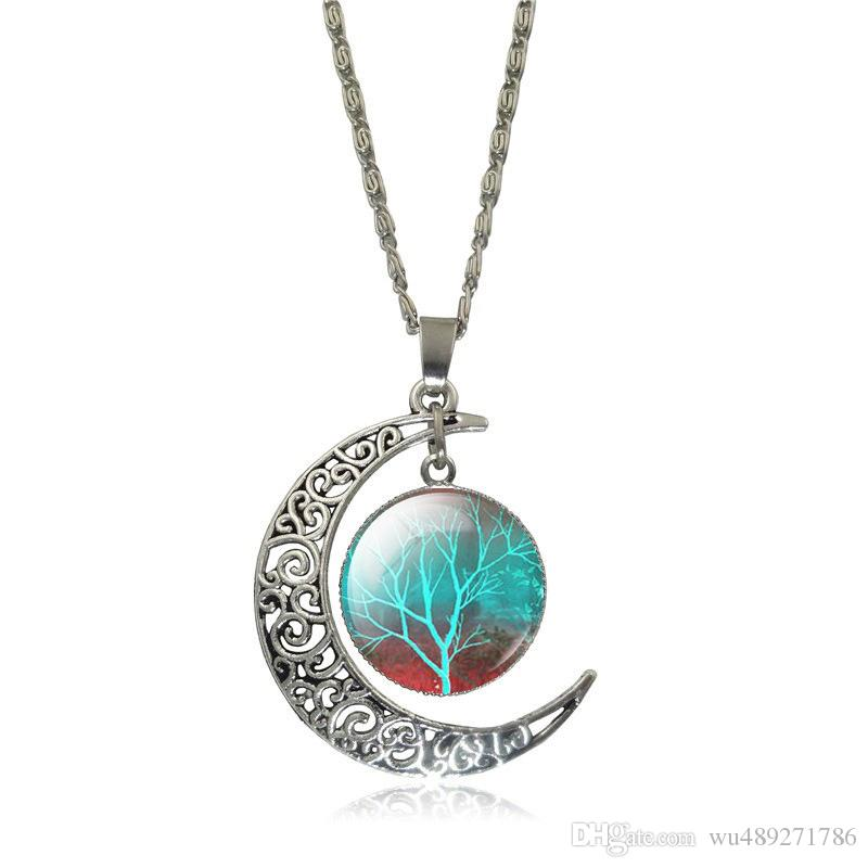Vintage Cabochon Glass Necklace Silver new pendants(what have we found ?