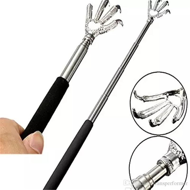 2017 high quality Convenient Claw Telescopic Ultimate Stainless Steel Back Scratcher extendible From 22 to 59cm