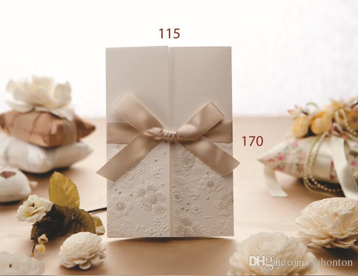 Cartões de convite de alta qualidade com envelopes, selos e impressão personalizada personalizada uma venda quente na temporada de casamento WQ07