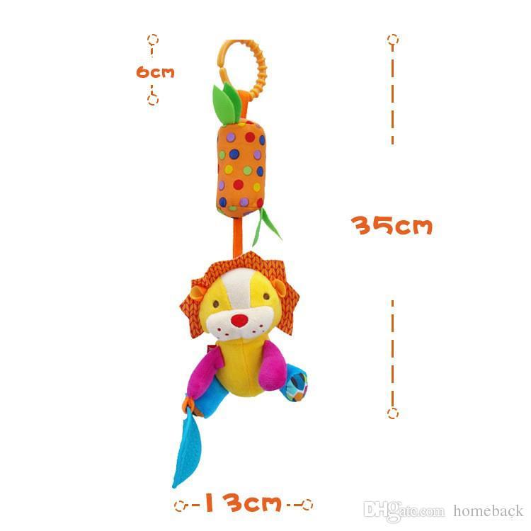 Chaud Bébé Style Animal Bébé Ratlle Lit Mobile Suspendus Carillons À Sonner Sonner Bébé Main Cloche Jouet Peluche Poupées Jouet