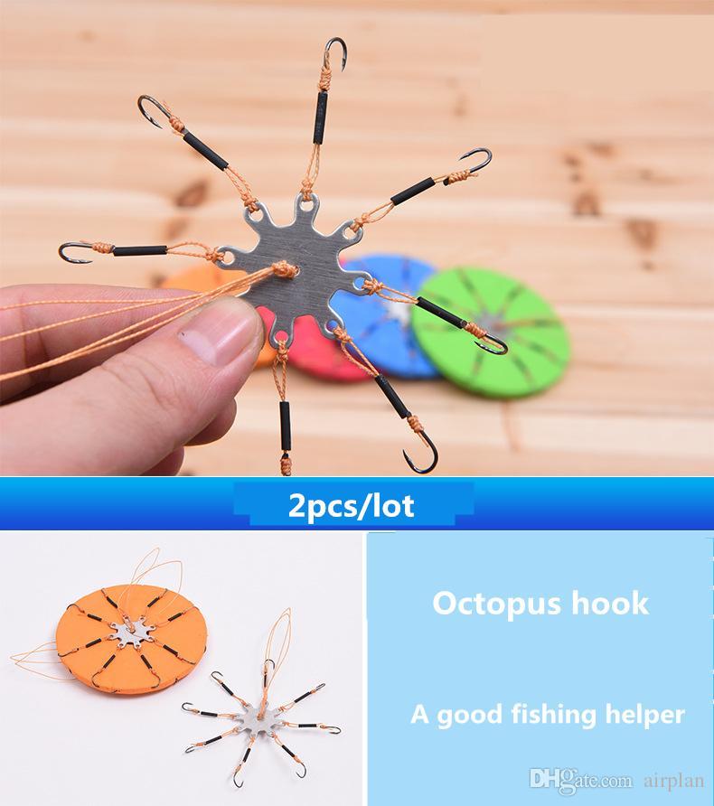 Commercio all'ingrosso di otto ganci da pesca artiglio anti - avvolgimento rotondo occhio round gancio accessori da pesca Pesca tackle ganci