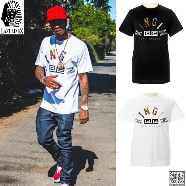 Compre Marca De Verano Tee Tyga LAST KINGS Ropa De Algodón De Manga Corta  Camiseta Hip Hop Poleras Hombre Camiseta Para Hombre Negro Blanco LK37 A   27.43 ... a94de55bb3e