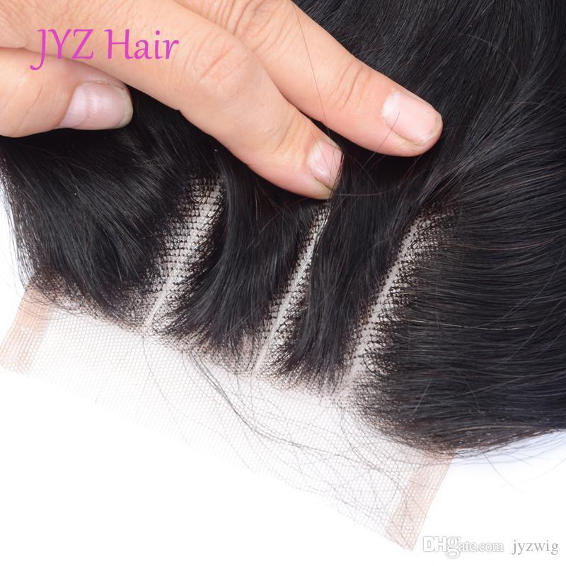 Capelli vergini indiani con peli del tessuto dei capelli umani dell'onda del corpo di chiusura con i capelli indiani dell'onda del corpo dei capelli indiani con la chiusura del pizzo