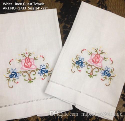 Accueil Textile Linge de maison blanc Serviette de toilette pour femmes / 14x22