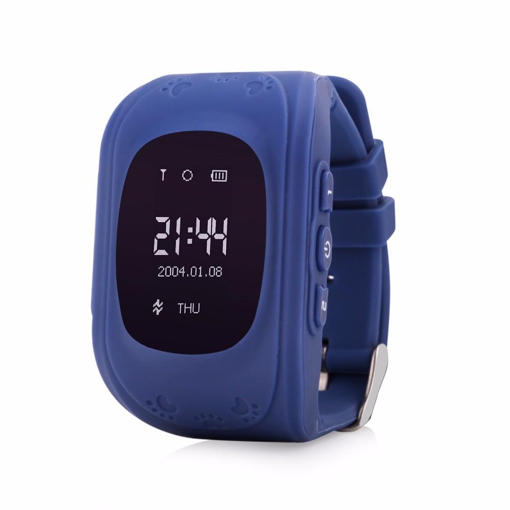 Camuflagem q50 crianças rastreador gps smart watch phone sim quad band gsm seguro sos chamada smartwatch para android ios