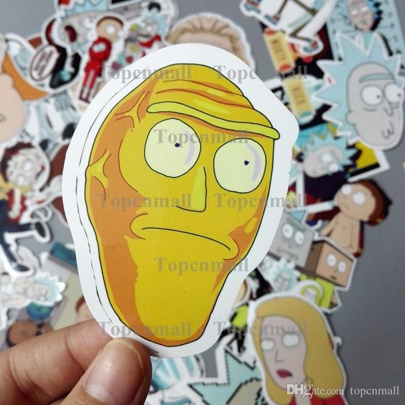 FBA Custom Logo Drop Shipping Built Brand American Drama Rick and Morty Funny Sticker For Car Laptop Bicycle Waterproof Stickers