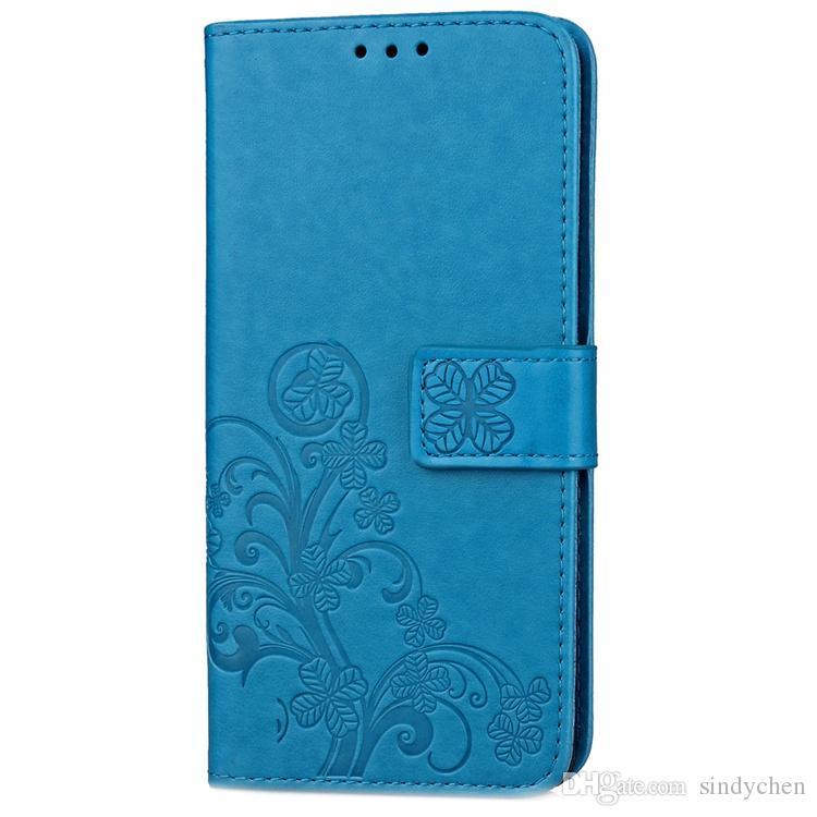 beautiful clover PU wallet Case with credit card slot Flip Fold phone cases for Samsung s4 s5 s6 note4 note5