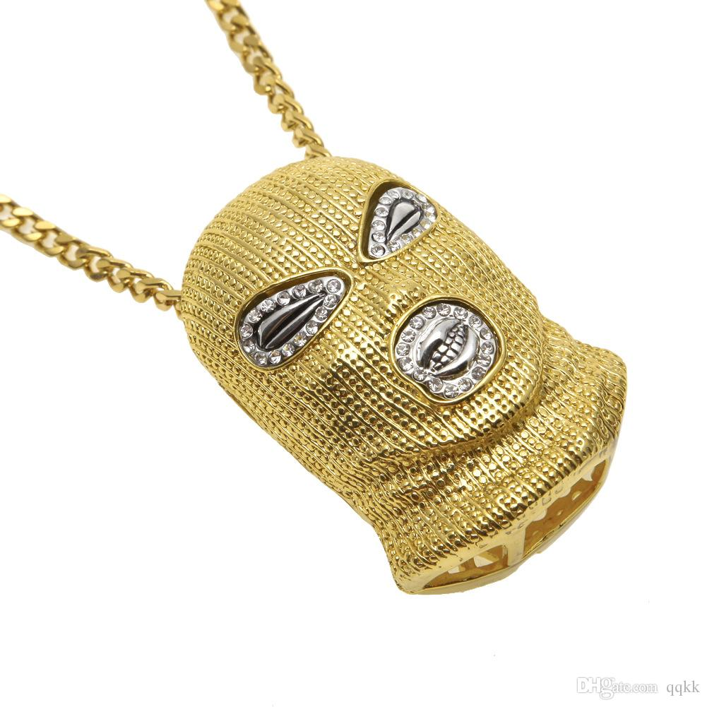 Wholesale hip hop csgo pendant necklace mens punk style 18k alloy wholesale hip hop csgo pendant necklace mens punk style 18k alloy gold silver plated mask head charm pendant high quality cuban link chain men jewelry mozeypictures Gallery