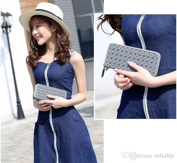 designer Geometric women wallet and purse clutch Silica gel wallet ladies Famous Brand purse