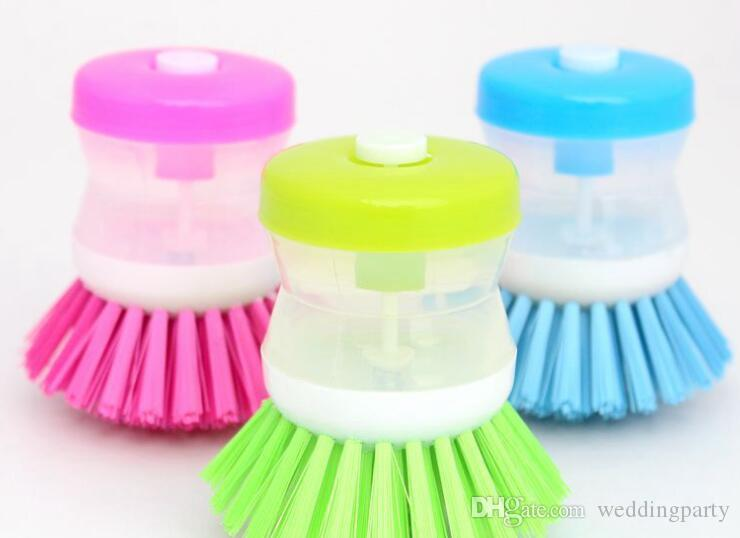 Plastic Clean Brush Dish Brush Kitchen Cleaning Hydraulic Dressure ScrubbC
