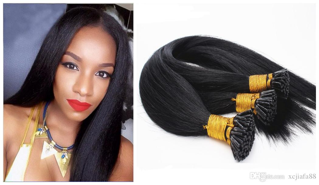 The Natural Color Man Pre Bonded Hair Extensions Brazilian Hair
