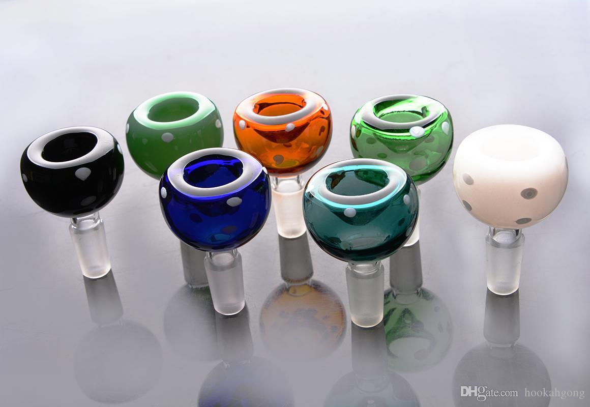 Nuovo arrivo colorato palla ciotola di vetro 14mm 18mm tubo di acqua tubo di tabacco ciotola di vetro Bong tubo di fumo
