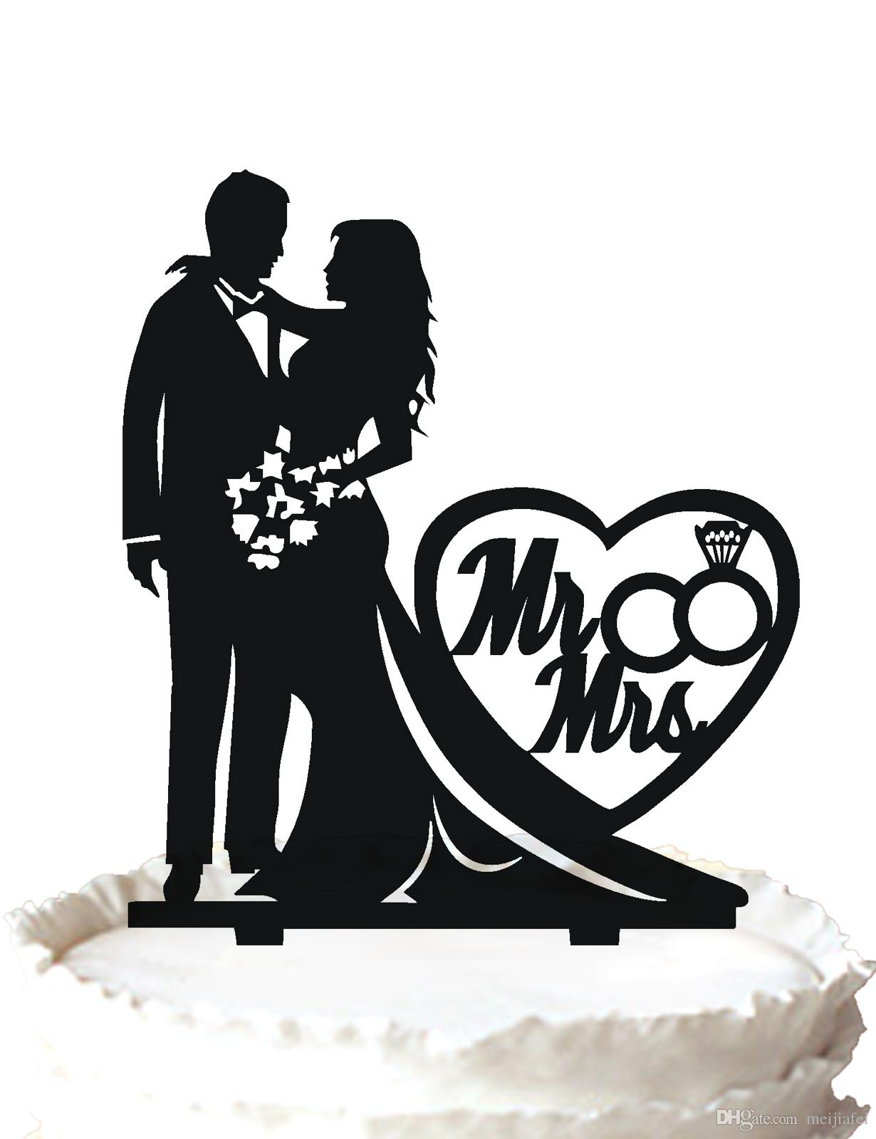 Wedding Cake Topper Decoration, Our Stunning Silhouette Pregnant ...