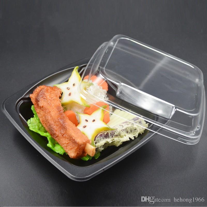 Anti Fog Einweg Lunchbox Kunststoff Lebensmittelbehälter Mit Transparent Deckel Salat Boxen PP Mahlzeit Prep Frischhaltedose 0 9zq KK