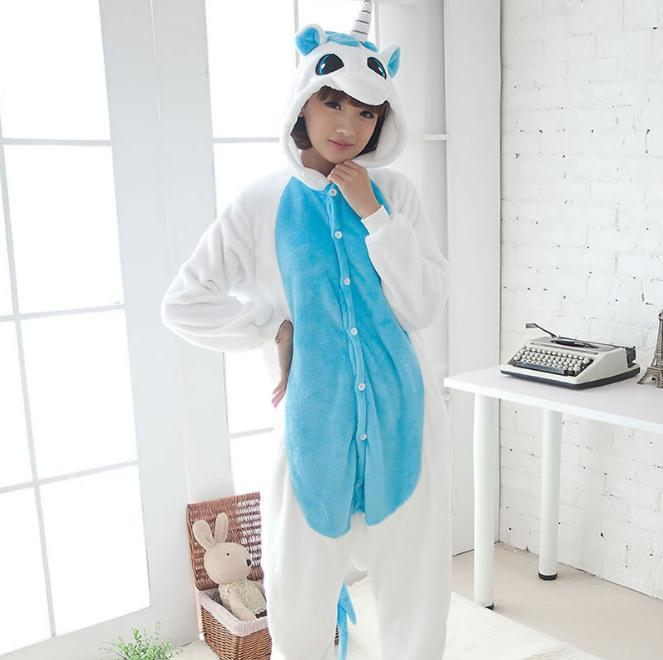 001,one piece Kigurumi Yellow Unicorn Animal pajamas,Adult Unisex Cosplay Pajamas Sleepwear Costumes Pyjamas Sleep JumpSuit