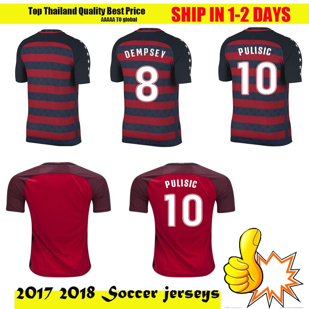 beae78cf0 ... USA Soccer Jerseys Fans American National Team 2017 18 Gold Cup United  States DEMPSEY DONOVAN Football ...
