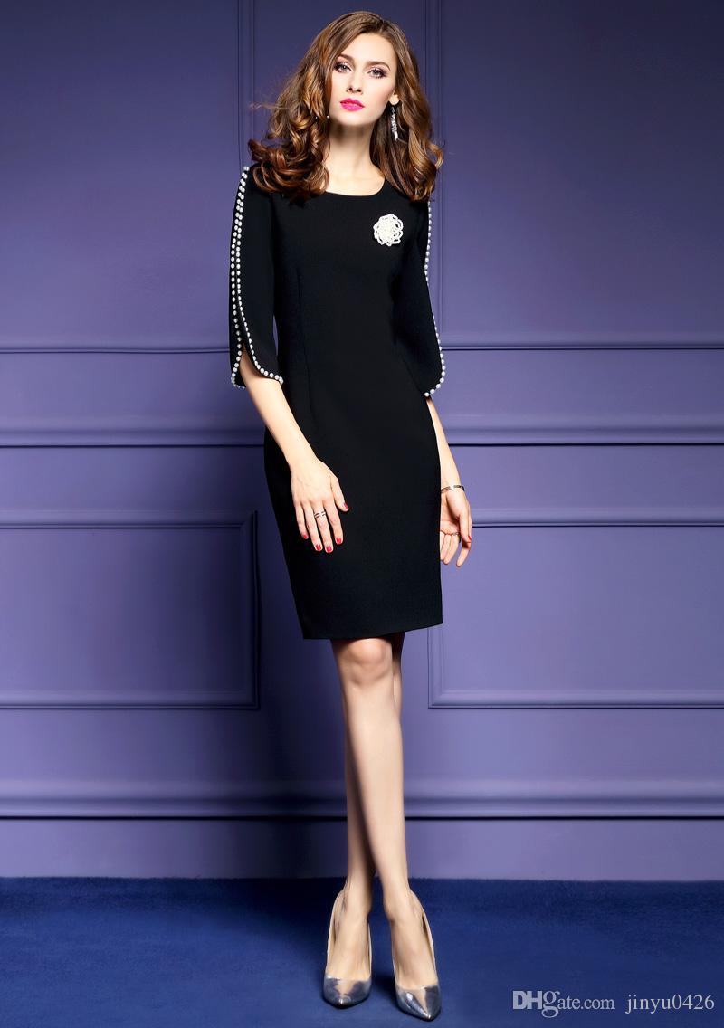 Increíble Lil Del Partido Del Vestido Negro Imágenes - Vestido de ...