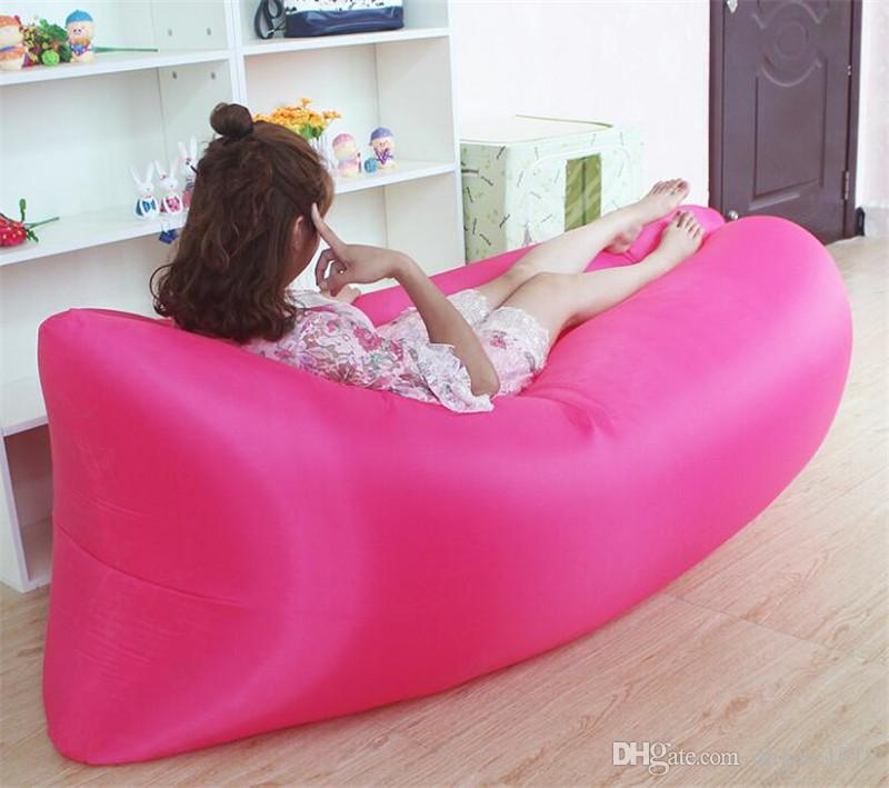 inflatable outdoor furniture. high quality inflatable camping sofa banana sleeping lazy chair bag nylon hangout beach bed air couch lay inexpensive patio outdoor furniture