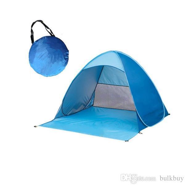 Prim Ücretsiz Kurmak Otomatik Hız Açık Kamp Çadırı Açık Plaj Gölge Aile Taşınabilir Su Geçirmez Açık Çadır Kamp Çadırı toptan