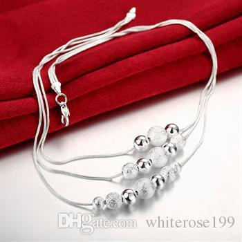 Wholesale - Retail lowest price Christmas gift 925 silver fashion Jewelry Necklace bN020