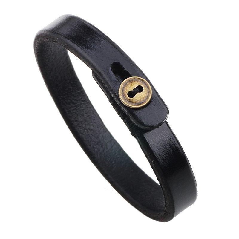 Leather bracelet wholesale Fashion bracelet Copper buckle bracelets Ethnic trinkets for women men Copper Classic Wrap Leather 162462