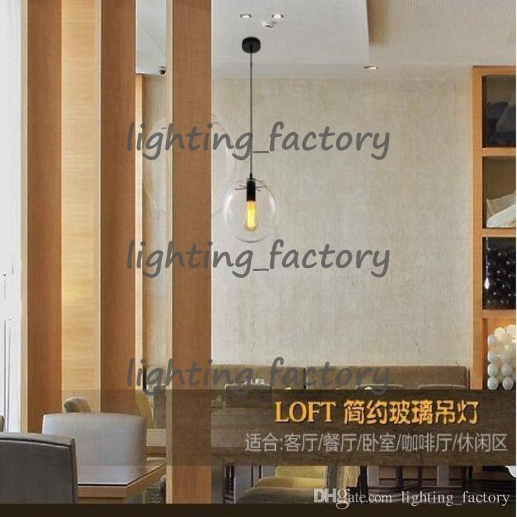 Moderne nordic lustre globus pendelleuchten glaskugel lampenschirm hängelampe e27 suspension küche leuchten hauptbeleuchtung