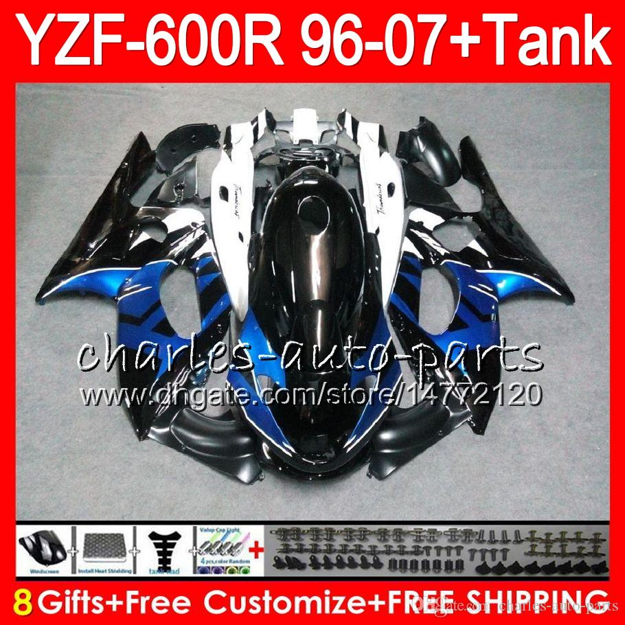 8Gift For YAMAHA YZF600R Thundercat 96 97 98 99 00 01 53NO36 blue black YZF-600R YZF 600R 1996 1997 1998 1999 2000 2001 Fairing kit