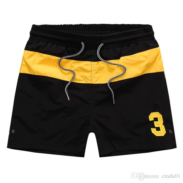 Плавание одежда мужчины лето шорты номер 3 печатных пляж шорты мужчины серфинг шорты небольшой лошади плавки стволы Спорт Де Бейн homme