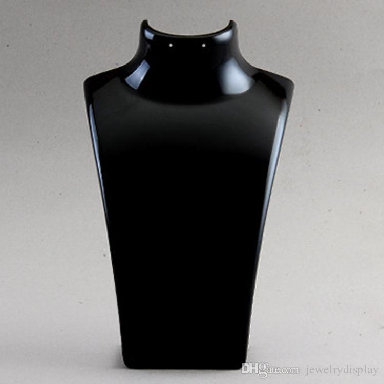 Envío gratis a granel precio joyería de moda exhibición busto de acrílico caja de almacenamiento maniquí sostenedor de la joyería para el pendiente colgante collar soporte titular