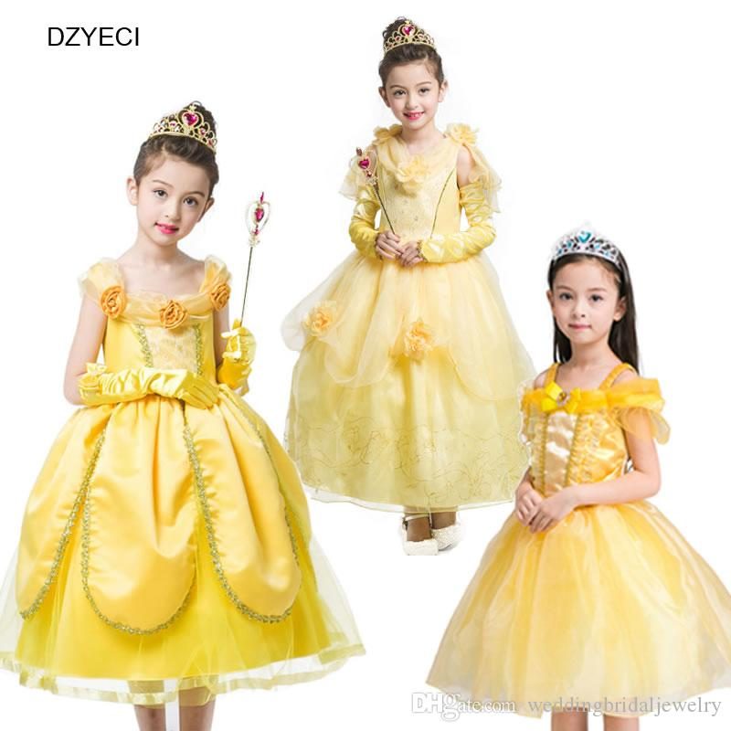 Belle Princess Dresses For Teenager Girl Costume Clothes Halloween ...