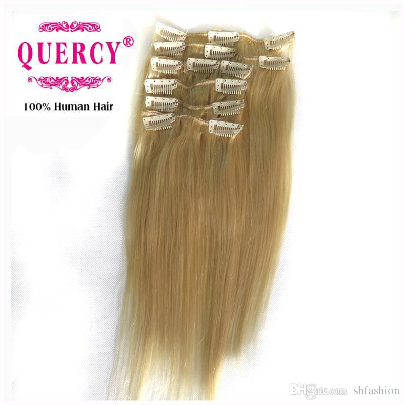 Clips In Hair Extensions Straight Indian Malaysian Peruvian Virgin
