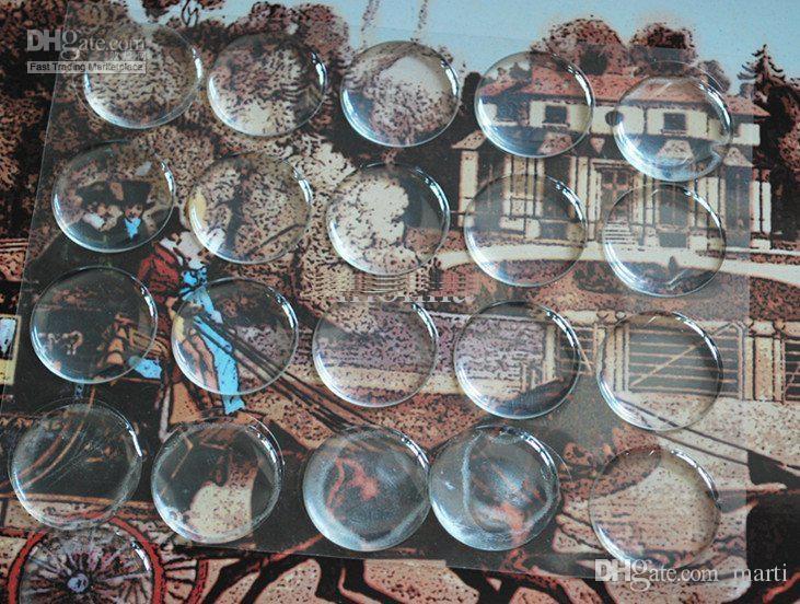 1 polegada 3D claro Resina AUTO CÓDIGOS ADESIVOS CAPTURA DO FRASCO ETIQUETAS CLARO ETIQUETA EPÓXICO adesivo de parede para decoração de casa frete grátis O # 04
