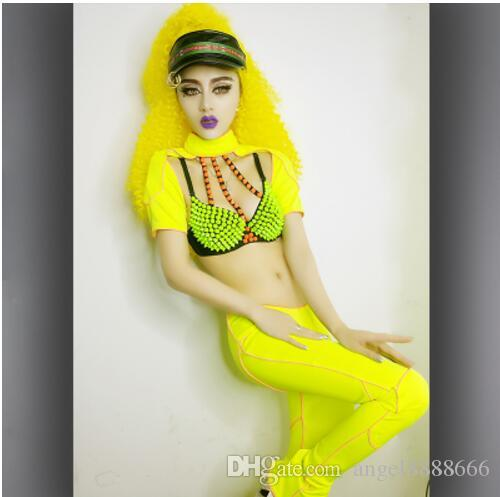 1c32d56ad9 female Fluorescent stage wear sexy costumes new nightclub bar DS costumes  women's prom dress singer lead dancer DJ DS performance clothing