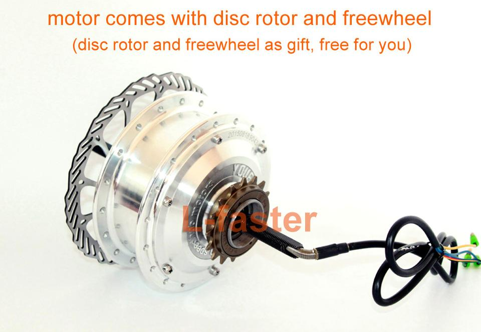 36V48V 250W Electric Bike Rear Wheel Brushless Hub Motor Kit Can Use Wuxing LCD Display Thumb Throttle For Single Freewheel Bike